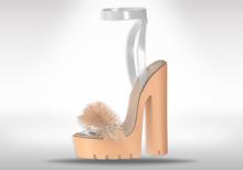 Veilance: Chelsea Fur Heels - Nude