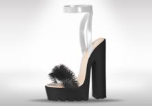 Veilance: Chelsea Fur Heels - Noir