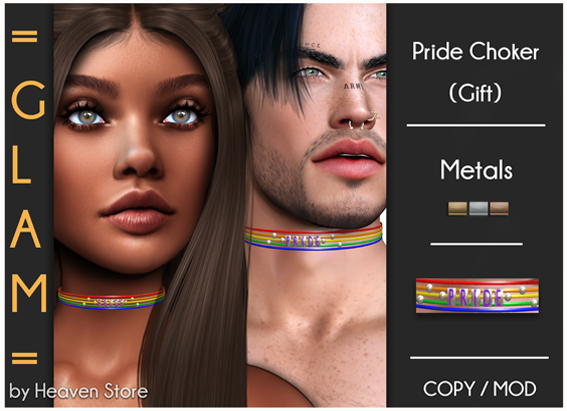 = GLAM = Pride Choker (Gift) ADD