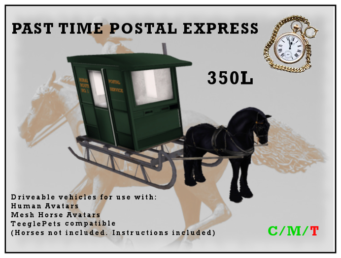 Past Time Postal Express Sleighs