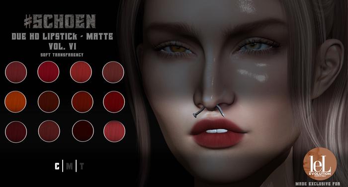 #SCHOEN - HD Due Lipstick Matte - Vol. VI