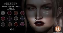 #SCHOEN - HD Due Lipstick Matte - Vol. II
