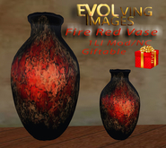 Fire Red Vase
