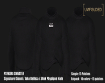 UNFOLDED //  Psykore Sweater // Black