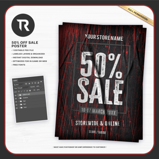 [TR] 50% off Sale Poster