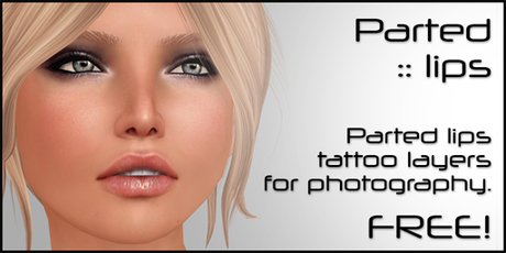[:T:] Parted lips tattoo layers [free]
