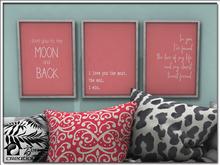 Love Quotes Art Trio