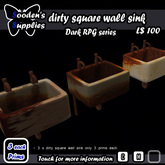 3 Prim dirty square wall sink