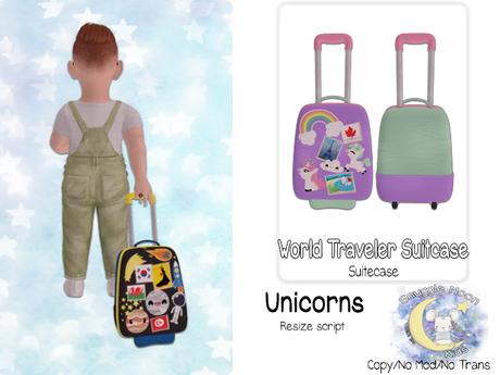 {SMK} World Traveler Suitcase | Unicorns