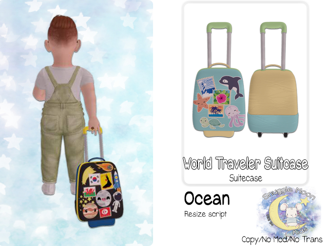 {SMK} World Traveler Suitcase   Oceans