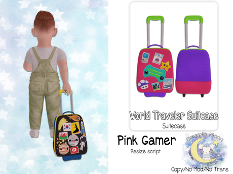 {SMK} World Traveler Suitcase   Gamer Pink