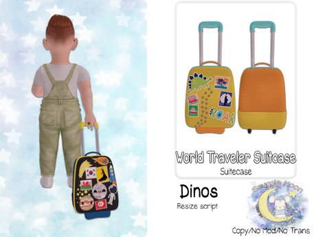 {SMK} World Traveler Suitcase   Dino