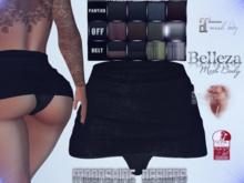 MSD Peekaboo Denim Skirt - BLACK