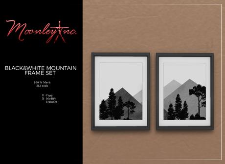 Moonley Inc. - Black&White Mountain Frame Set