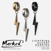 MARKED - Lightning Accent Earring