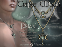 ☽◯☾ Triple Moon Collection: Flidais, Goddess of Nature & Spirit - Two matching Necklaces