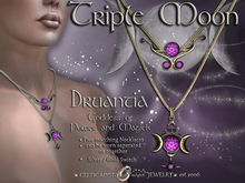 ☽◯☾ Triple Moon Collection: Druantia, Goddess of Power & Magick - Two matching Necklaces