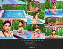Lyrium. Pool Party Backdrop Pool Scene