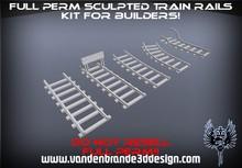~Full perm sculpted Train rails kit + Maps! Nice broken rail included!