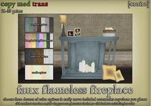 [croire] Faux Flameless Fireplace (color options, everything included, customizable add your own photos) Cute decor.