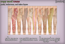 [croire] sheer pattern leggings (10 pairs included) (fatpack)