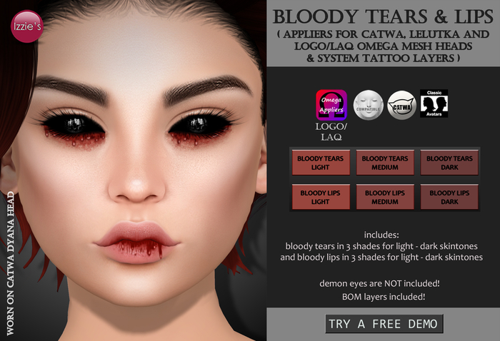 Izzie's - DEMO Bloody Tears & Lips