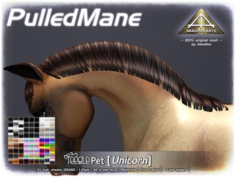 ABADDON ARTS - Pulled Mane GRAND [Teeglepet Unicorn]