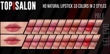 TOP1SALON - HD NATURAL LIPSTICK (Lelutka Evolution) PALE