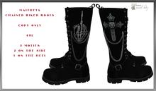 Maitreya chained biker boots