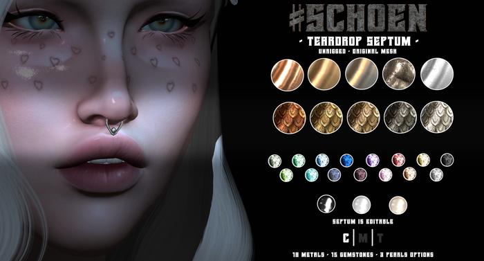 #SCHOEN - Teardrop Septum