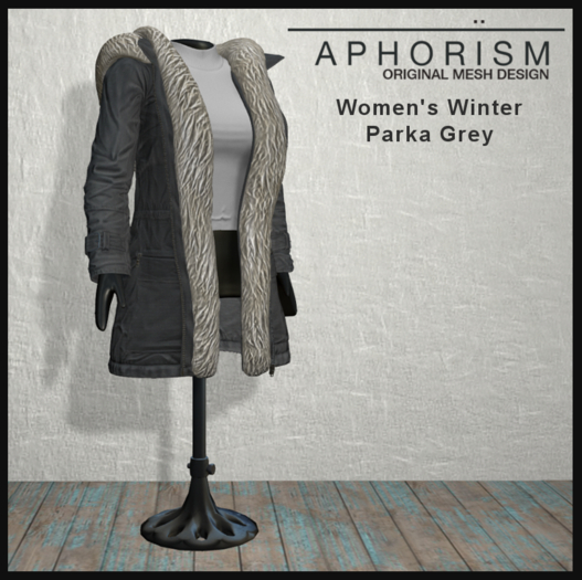 !APHORISM! Winter Parka Women - Grey