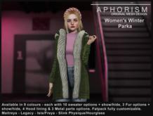 !APHORISM! Winter Parka Women - Fatpack