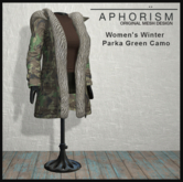 !APHORISM! Winter Parka Women - Camo Green