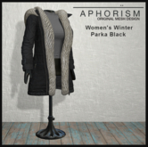 !APHORISM! Winter Parka Women - Black