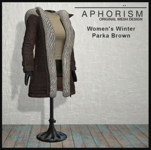 !APHORISM! Winter Parka Women - Brown