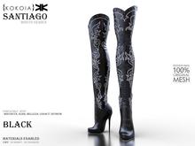 Santiago :: Woman Boots :: Black :: {kokoia}