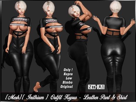 [Mesh] [Inithium Kupra] Outfit - Leather Pant & Shirt