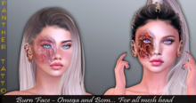 PANTHER TATTOO-Burn Face[ Bakes on Mesh ] & Appliers Omega