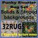 Rug punkyrooster,set complete32.euser