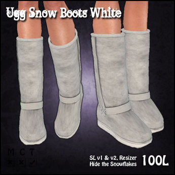 [Sassy Kitty Designs] Ugg Snow Boots White