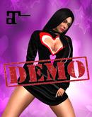 DEMO XK Maitreya Open Hearts Mini Dress