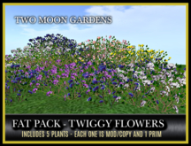 TMG - FAT PACK OF TWIGGY FLOWERS* LOW PRIM GROUNDCOVER