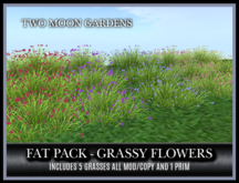 TMG - FAT PACK OF GRASSY FLOWERS* LOW PRIM GROUNDCOVER