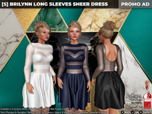 [S] Brilynn Long Sleeves Sheer Dress Demo