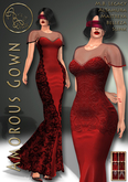 Valentine's day promotion 99L***ArisArisB&W~Amorous Gown~HUD