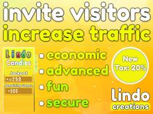 Lindo Candies - Invite Visitors - Increase Traffic (Tax:20%)