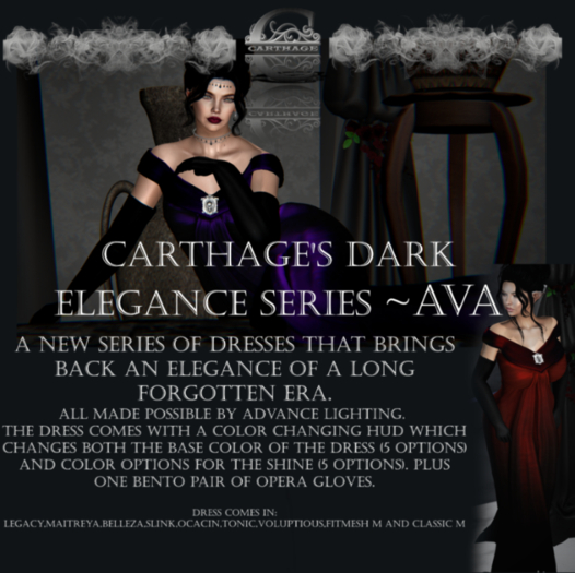 Carthage Dark Elegance series~Ava Formal