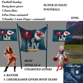 SUPER SUNDAY FOOTBALL PARTY FAVOR BOX GIVERS-BOX