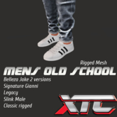 XTC MENS OLD SCHOOL SNEAKERS RIGGED
