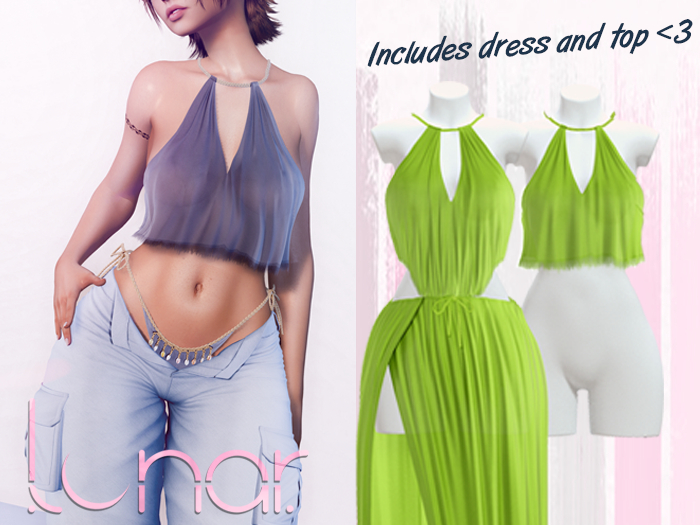 Lunar - Nami Dress & Top - Hills Green